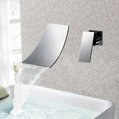 Sumerain In-wall Chrome Waterfall Vessel Sink Faucet