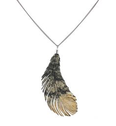 Reversible Feather Pendant | www.mooreaseal.com