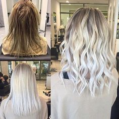 @alennmj started by creating a micro section doing babylights with foils, in the back area he used Loreal Pro lightener with 30vol(9%) on the roots and 10vol(3%) on the length, both with Olaplex! In the front area, 40vol(12%) on the roots and 10vol(3%) on the length, both also with Olaplex!He then shampooed and rinsed. Toner: Ice White Rusk with 23vol(7%) and bit of shampoo, left on for 10 min. Lastly, apply Olaplex No.2 for 15 minutes. #olaplex #beforeandafter #transformation #platinum…