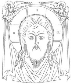 By topic : The Holy Face (The Vernicle, The Mandylion) Religious Icons, Orthodox Icons, Bible Art, Byzantine, Jesus Christ, Ornaments, Drawings, Pattern, Cartoons