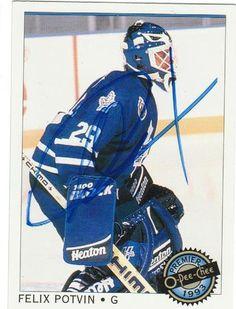 Felix Potvin Toronto Maple leafs Autographed 1992-93 O-Pee-Chee Card