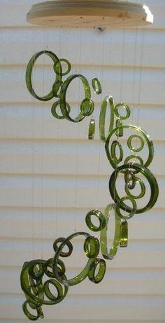 I love this.. glassbymichael.com diy glass windchime   DIY - Glass wind chime   Wind Chimes