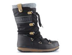Śniegowce moon boot monaco felt nero