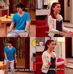 Ariana grande and Matt Bennett on victorious I love this show when I was little yesss Victorious Nickelodeon, Icarly And Victorious, Robbie Victorious, Old Tv Shows, Kids Shows, Disney Marvel, Ariana Grande, Dreamworks, Funny Cute