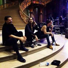 30 Seconds To Mars... God look at those stairs!! Or those men! Ugh jared lets get married right there!
