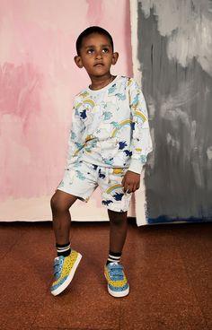 Blue Unicorn AOP Sweatshorts - Mini Rodini - Kids Online - Baby, Kids