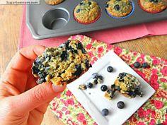 Blueberry gluten and sugar free muffins