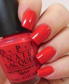 """OPI - Cajun Shrimp - One of my """"go-to"""" reds"""