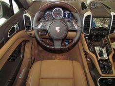 Interior of 2012 Porsche Cayenne AWD 4 door Turbo