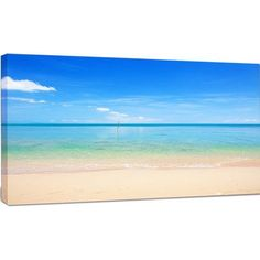 "DesignArt 'Calm Waves at Tropical Beach' Photographic Print on Wrapped Canvas Size: 20"" H x 40"" W x 1"" D"