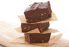 Raw brownies - delicious!