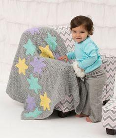 Twinkle Stars Baby Blanket - free crochet pattern