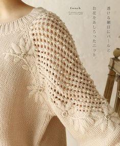 RU // Galina Stroeva - Manga Ranglan, y terminaciones, varias. Crochet Snowflake Pattern, Crochet Lace, Crochet Designs, Knitting Designs, Knit Art, Crochet Woman, Crochet Fashion, Crochet Clothes, Hand Knitting