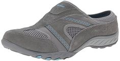 Skechers Sport Womens DownToEarth Fashion Sneaker Gray SuedeMeshBlue Trim 55 M US *** You can find out more details at the link of the image.
