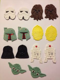 Star Wars Themed Edible Cupcake Toppers by LilBellaBoutique, $28.99