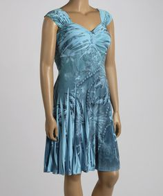 Another great find on #zulily! Blue Hibiscus Sublimation Sweetheart Dress - Plus #zulilyfinds