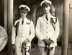 HRH The Prince of Wales (later King Edward VIII and Duke of Windsor) left, and Lord Louis Mountbatten (later 1st Earl Mountbatten of Burma) circa 1922. Edward abdicated in favor of his brother George and Mountbatten was murdered by the Irish Republican Army. Both events were devastating to the royal family.