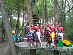 Zip Lining Canopy Tour in Lake Geneva, WI --highly recommend this as it's a blast!