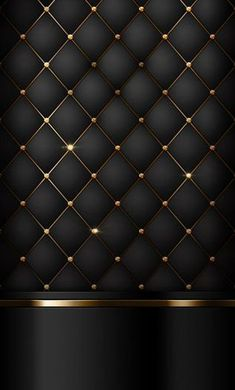 Bed Headboard Design, Bedroom Bed Design, Headboards For Beds, Bedroom Decor, Wall Decor, Black Phone Wallpaper, Cellphone Wallpaper, Gold And Black Wallpaper, Gold Wallpaper For Bathroom