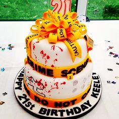 21st forensic birthday cake #21st #forensic
