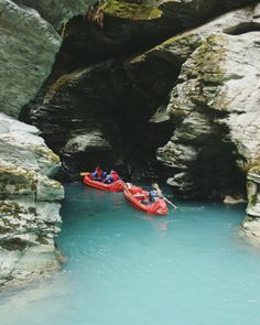 Dreaming of days funyaking with Dart River. The Rockburn Chasm is such an incredible place to paddle into. Whitewater Rafting, Adventure Activities, Skydiving, Paddle, Paradise, The Incredibles, Boat, River, World