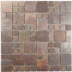 Versailles Unique Shapes Antique Copper Kitchen Antique Metal Tile. Would look good in bathroom too