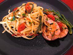 Linguine con gamberoni e asparagi di mare ©Le delizie di Patrizia Gabriella Scioni Ricette su: Facebook: https://www.facebook.com/Le-delizie-di-Patrizia-194059630634358/ Sito Web: https://ledeliziedipatrizia.com