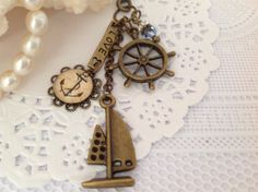 Bronze Anchor Planner or Filofax Charm Bag charm by PrettySang, $10.90