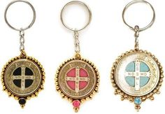 I love my Virgins Saints and Angels key chain... My favorite cross is the St. Benedict cross <3