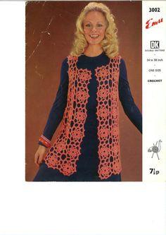 Vintage Crochet Ladies Jacket Pattern PDF No0157 by TimelessOne, $2.99