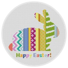 Easter Bunny Rabbit Modern cross stitch pattern PDF Instant Download Easter home decor Easter Spring Holiday Easter Decoration Gift X048