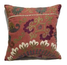 "free ship. Vintage Custom Made Decorative Hand Embroidery One of A Kind Antique Uzbek Suzani Cushion Pillow 60cmx60cm 24""x24"" item:yakL981"