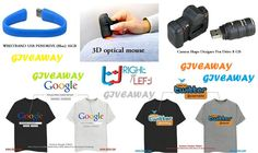 Win Fancy pendrives, 3D Mouse, Custom Tshirts [Giveaway] till 4th Sept 2013