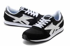 Reebok Leather NX Low Cut Mens Black White - UK Black And White Man, Nike Free Runs, Running Women, Reebok, Black Friday, Trainers, Sneakers, Leather, Shoes