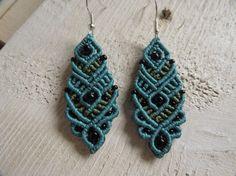 Earrings of macrame macramé earrings