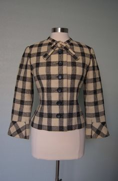 Early 60s Christian Dior Adorable Fitted Wool by KittyGirlVintage