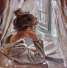 """Monika Luniak – Paintings for Sale Buy """" STORY … """" original painting book reading palette knife GIFT, Oil painting by Monika Luniak on Artfinder. Discover thousands of other original paintings, prints, sculptures and photography from independent artists. Reading Art, Girl Reading, Famous Impressionist Paintings, Landscape Paintings, Oil Painting On Canvas, Painting & Drawing, Painting Of Girl, City Painting, Painting Videos"""