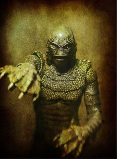 "The ""Creature"" from 1954, Sci-Fi thrill film ""Creature from the Black Lagoon""."
