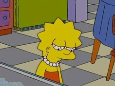 Lisa looking sad - simpsons - lisa simpson, the simpsons и s The Simpsons, Simpsons Meme, Simpsons Quotes, Cartoon Quotes, Simpson Wallpaper Iphone, Sad Wallpaper, Cartoon Wallpaper, Simpson Tumblr, Memes Estúpidos