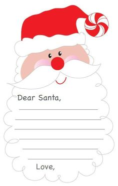 Write a letter to santa claus printable crafts