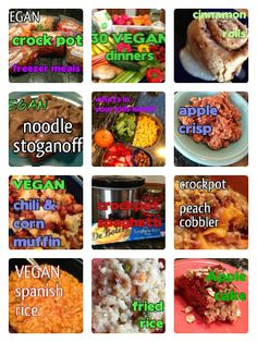 VEGAN Crock Pot FREEZER Meals - make ahead and freeze, then slow cook overnight. great way to make lunches and dinners fast and easy