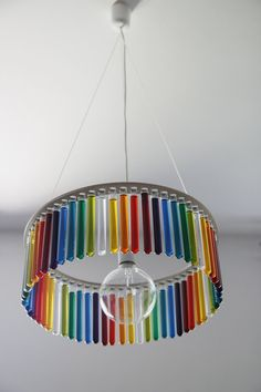 Filled With Water - Beautiful Chandelier With Glass Test Tubes Decoration