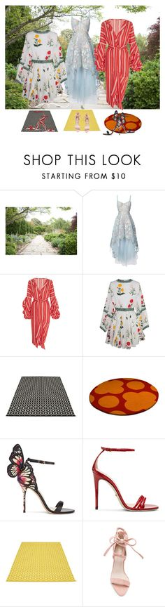 """""""Three Dresses"""" by sunnyjuke ❤ liked on Polyvore featuring Notte by Marchesa, Johanna Ortiz, Pappelina, Sophia Webster and Gucci"""