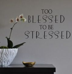 Vinyl wall DecalToo Blessed to be Stressed Vinyl by landbgraphics, $16.00