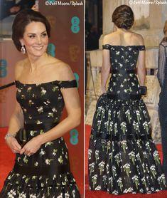 Kate Middleton / Duchess of Cambridge BAFTA 2017 Love this updo