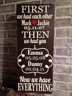 Super cute family sign idea