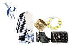 Printed Stripes by timmology on Polyvore featuring Étoile Isabel Marant, Boohoo, Yves Saint Laurent and Sole Society