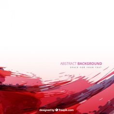 Red watercolor background Free Vector
