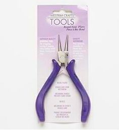 round nose pliers (need to pick up a pair)