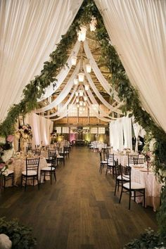 romantic barn wedding reception decoration ideas #wedding #weddingideas #barnwedding